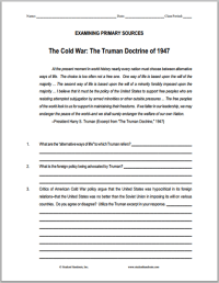 Printables. Origins Of The Cold War Worksheet. Mywcct ...