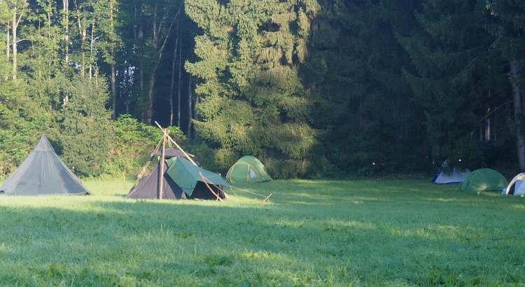Tents at the Bavarian rainbow gathering