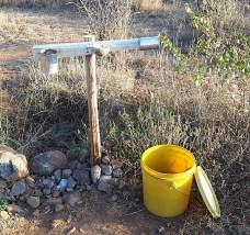Handwashing station in Sadhana Forest, Kenya.
