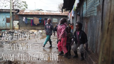 Kids play happily in Southlands Slum