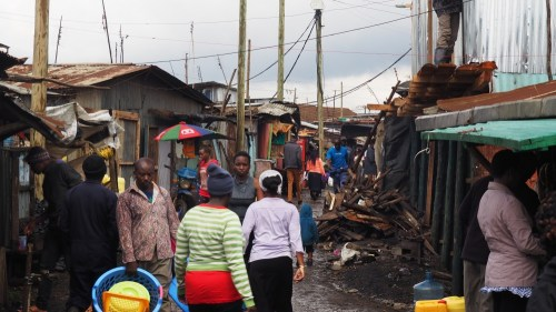 Street in Southlands Slum