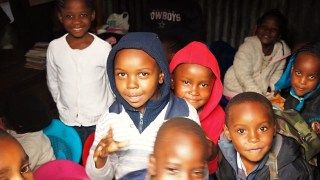 Pre-school kids in class.