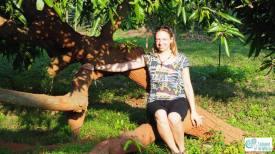 Enjoying evening sun in Auro Orchard