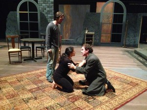 "Actors rehearse ""A Bright Room Called Day"" before its opening on Oct. 31. Courtesy photo"