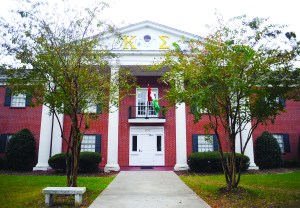 The Kappa Sigma house on Fraternity Row at The University of Southern Mississippi. Christopher Little/Printz