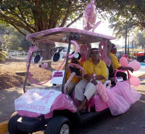 A department golf cart was decorated last year during the Paint Southern Miss golf cart competition. Courtesy photo