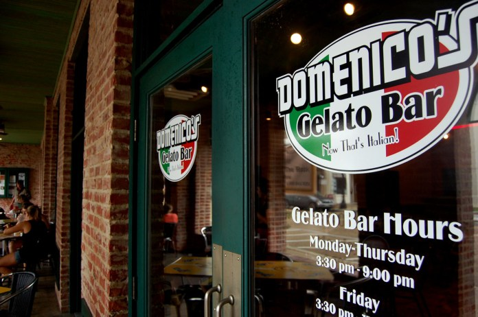 Domenicos Gelato Bar opened August 29th next door to Bianchis Pizzatia in downtwn Hattiesburg. They offer 18 falovors from chocolate and vanilla to nutella and peanut butter. | Photo by Mary Sergeant