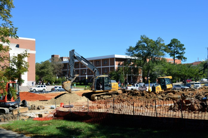 The new parking lot will be located across from the Liberal Arts Building and will be an open zone, providing 148 spaces for students, faculty and staff. -  Kelley Joe Brumfield