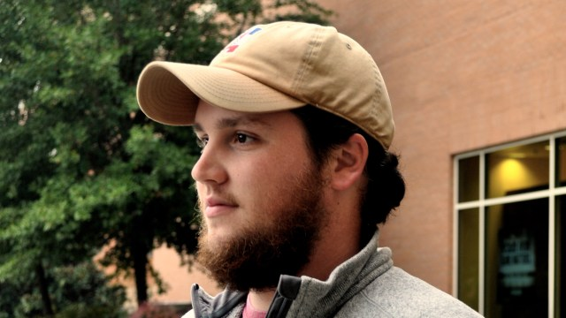 Clark Kunz, a senior forensic science major, has already been growing his beard for No-Shave November. Clark began growing his beard back in August. - Kelley Joe Brumfield
