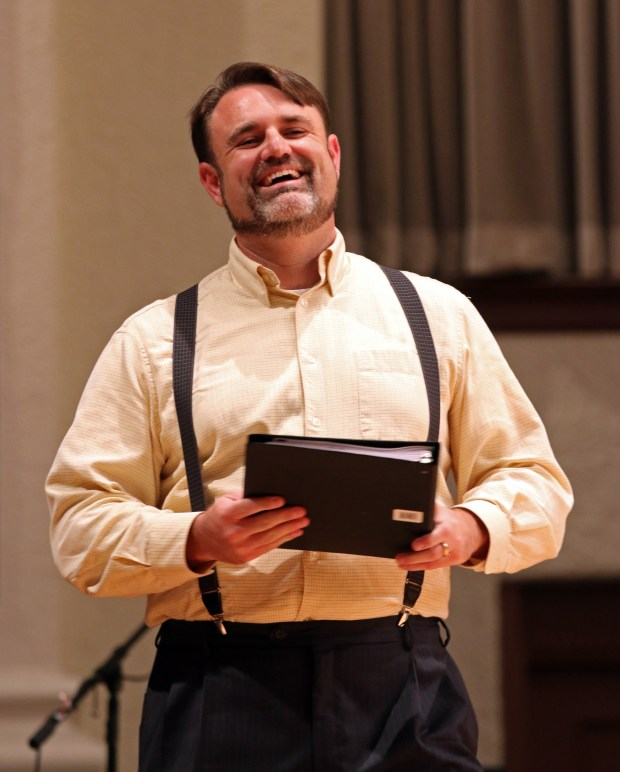 """The Southern Miss Showcase Concert of the Southern Invitational Choral Conference 2015 was held at Bennett Auditorium on the USM campus Monday, September 28, 2015.  Taylor Hightower sings """"Bella figlia dell'amore"""" from Rigoletto. Fadi Shahin/Student Printz"""