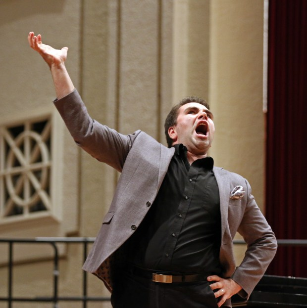 """The Southern Miss Showcase Concert of the Southern Invitational Choral Conference 2015 was held at Bennett Auditorium on the USM campus Monday, September 28, 2015.  Peter Lake sings """"I Am Aldolpho"""" from The Drowsy Chaperone. Fadi Shahin/Student Printz"""