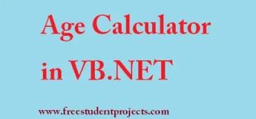 Age calculator in vb