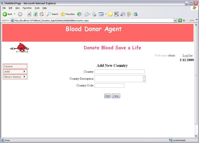Blood Donation System Database Project