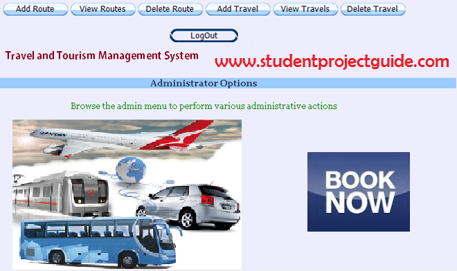 Tours Travel Management System - Student Project Guidance