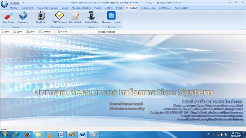 Modules of Human Resources Information System