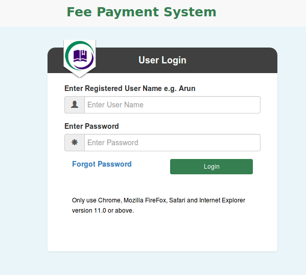 Online College Fee Payment System - Student Project Guidance