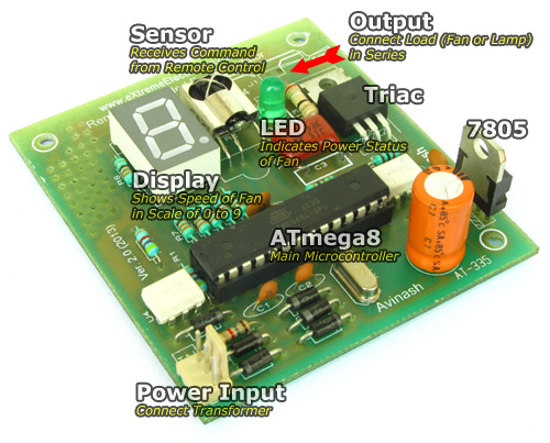 Remote-Controlled Fan Regulator