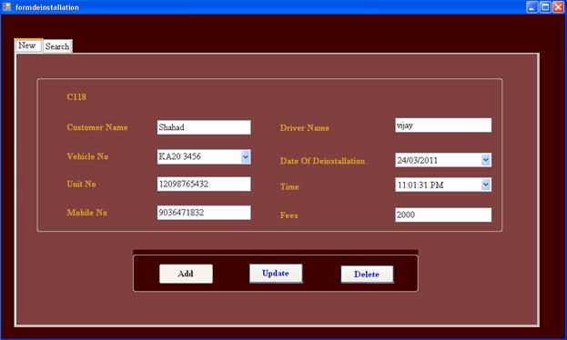 Office Management System for Vehicle Monitoring System