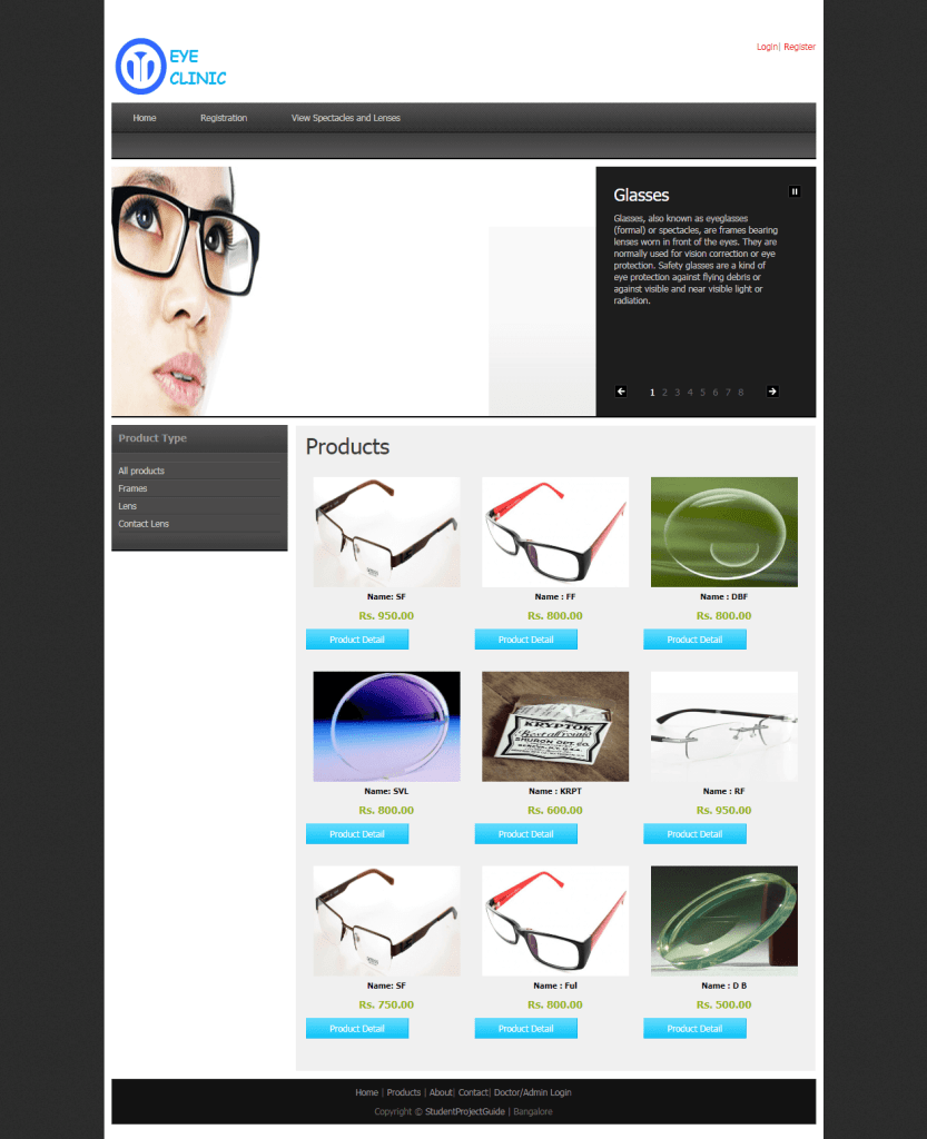 Online Eye Care System