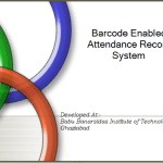 Barcode Enabled Attendance Record System Project Report