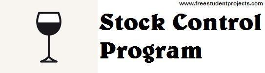 Stock Control Program
