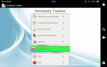 Android Inventory Tracker