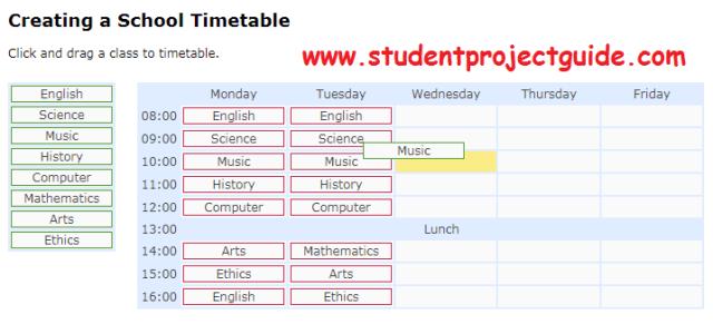 Online School Timetable