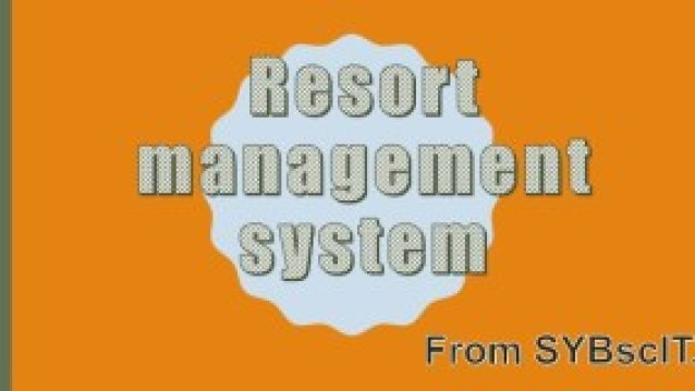 Resort Management System