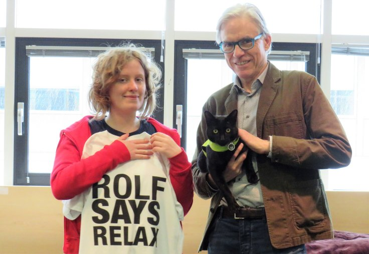 Rolf visiting the Wolfson Research Exchange (Cat Tales Event)