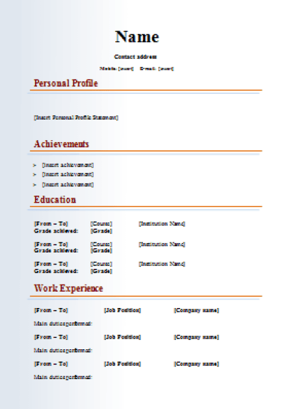 Multimedia-Media-CV-Template
