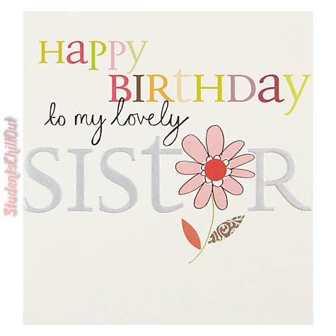 happy birthday sister card