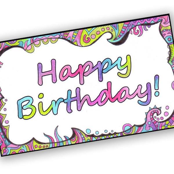 41 Best cute happy birthday printable cards StudentsChillOut – Free Happy Birthday Printable Cards