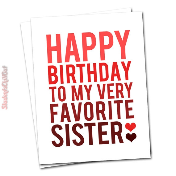 happy birthday card sister