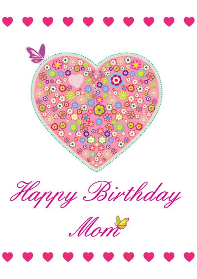 photo about Printable Birthday Cards for Mom referred to as Great printable birthday playing cards for mother StudentsChillOut