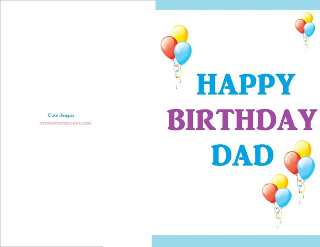 free printable happy birthday card