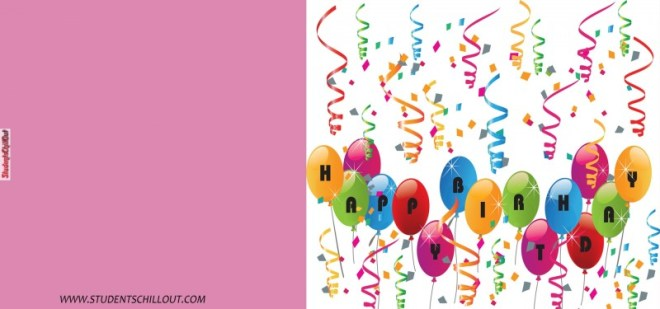 free happy birthday card printable