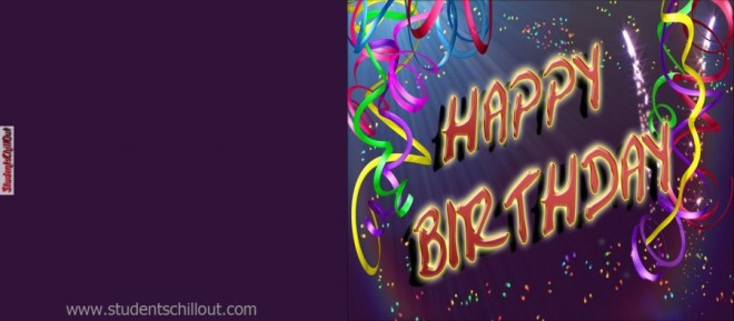 happy birthday card free printable