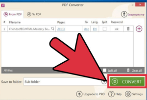 How to convert a pdf to a word document