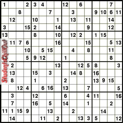 graphic relating to 16 Square Sudoku Printable referred to as No cost printable sudoku puzzles StudentsChillOut