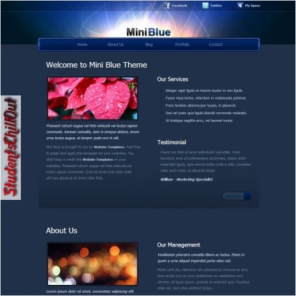 html website template free download