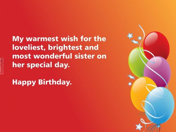 best wishes for sister birthday