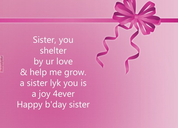 best birthday wishes for sisters