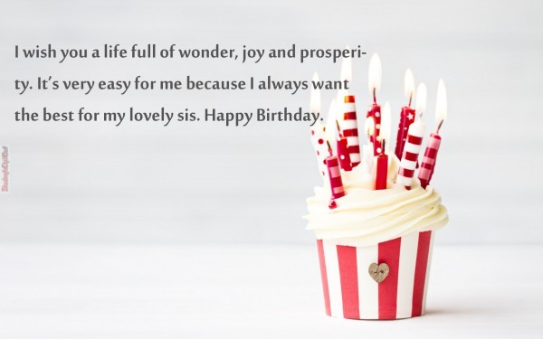 best birthday wishes to a sister