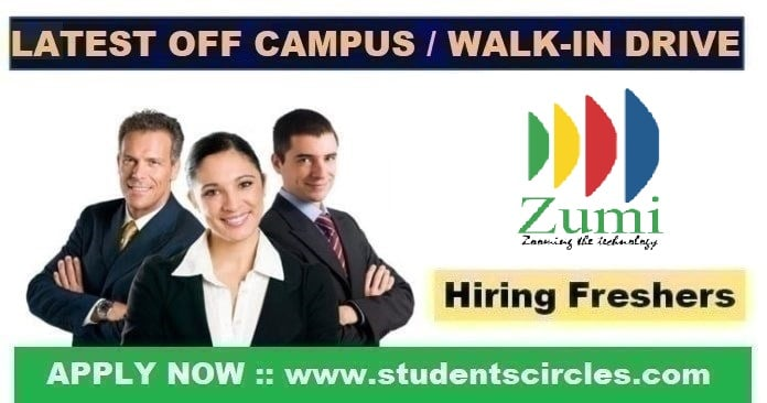Zumi Solutions Off Campus Drive 2020