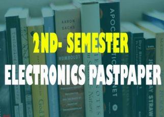 2nd Semester Electronic