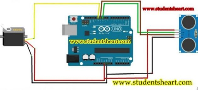 arduino based radar system circuit