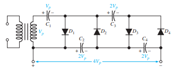 voltage quadrupler circuit
