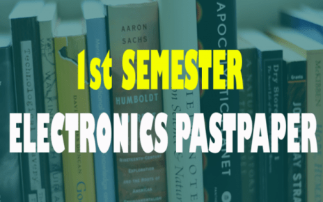 past papers of 1st semester