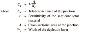 Capacitance Formula for Varactor Diode
