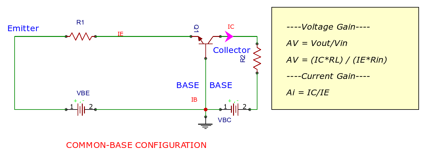 common base configuration circuit diagram wiring for led lights on trailer transistor configurations emitter and collector 2019 of